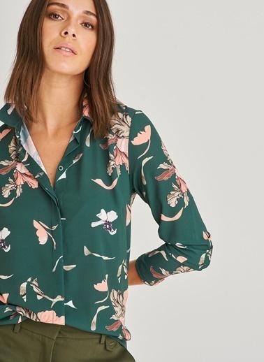 Çiçek Desenli Gömlek-People By Fabrika